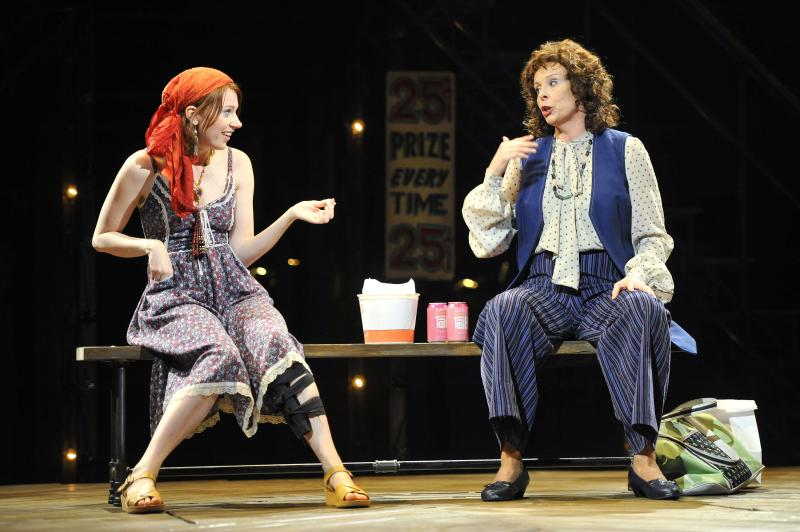 "L to R: Maren Searle  as Lynette ""Squeaky"" Fromme and Julie Fishell as Sara Jane Moore"