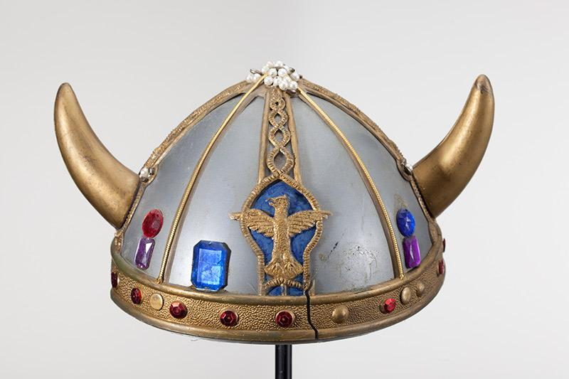 Toy viking helmet