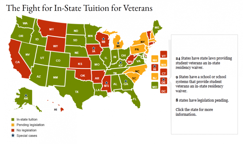 map, states, veteran education assistants