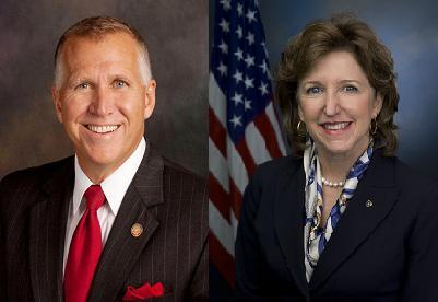 Thom Tillis and Kay Hagan