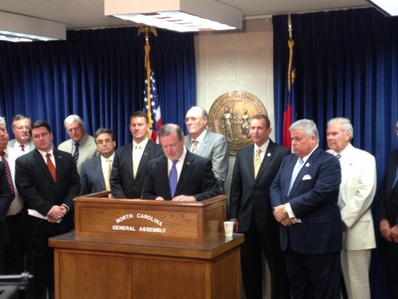 Senate leaders gathered for a press conference on Wednesday morning to release their teacher pay plan.