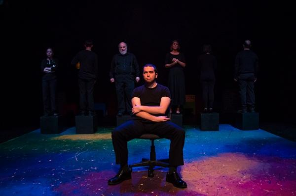 Drew Greene as Jimmy Wilson and the ensemble of KidsWrite 2014 in Five Stages by Miles Ndukwe