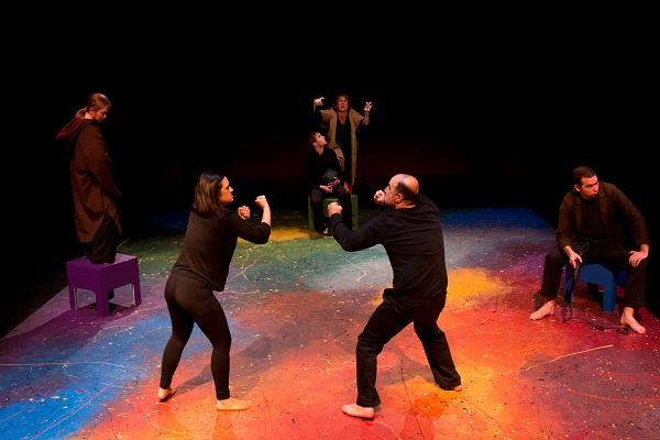 The ensemble of KidsWrite 2014 in To Fill the Abyss: A Play on True Happiness by Nikhil Milind