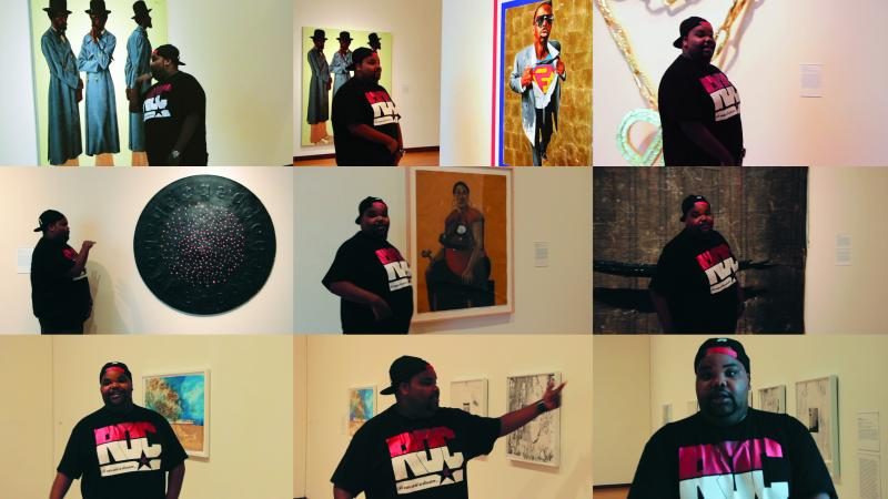 Rapper interacts with contemporary art