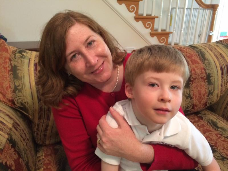 KeAnne Hoeg with her son, Daniel.