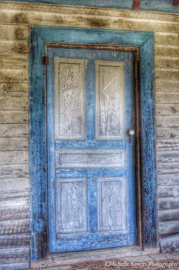 This door was to a side porch at a house in Franklin County. Look closely for the words 'stay out.'