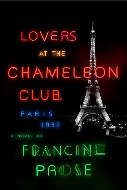 black book cover with neon lighting lettering and Eiffel Tower in background
