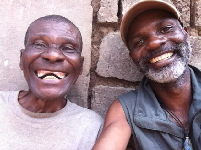 Godi Godar (right) with a man from the Lac Tumba region, DRC