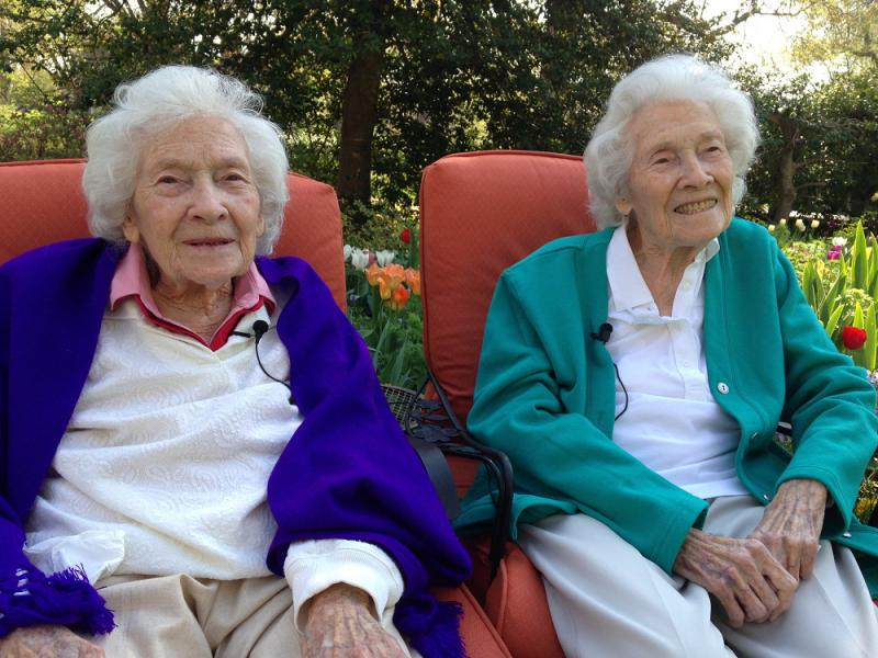The sisters, Bernice Wade (left) and Barbara Stiles (right)