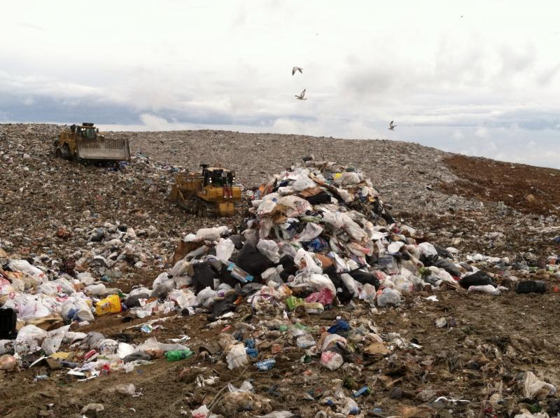 A picture of the South Wake Landfill.