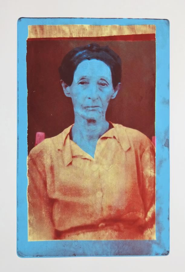 """Dolores Cardoza,"" a screenprint based of the artist's great grandmother"