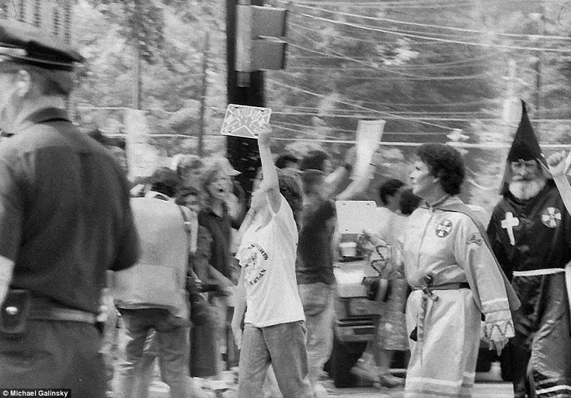 KKK Rally in Chapel Hill, NC June 15, 1987