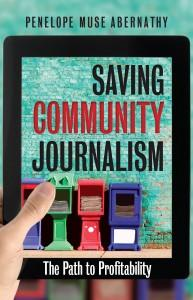 Book cover shows newspaper stands