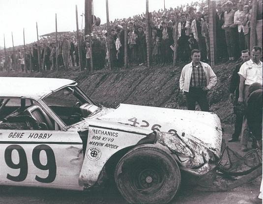 Gene Hobby's car after a wreck