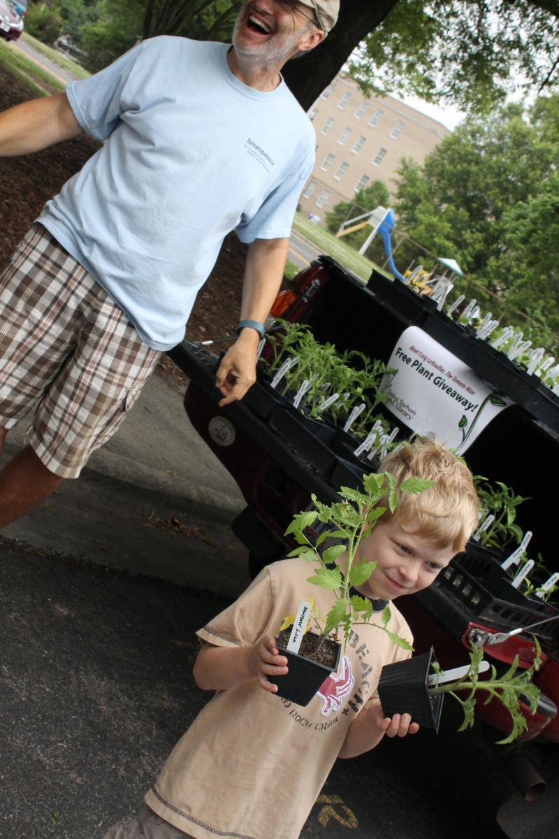 A young gardener makes his choices after learning about the history of his plants, making NC Tomato Man Craig LeHoullier happy.