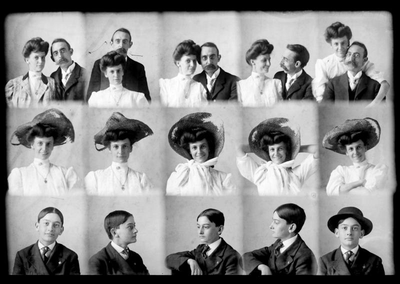 Hugh and his wife Annie Carden. Annie's brother, Perry, is on the bottom row.
