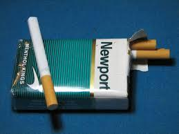 A picture of a pack of Newport cigarettes.