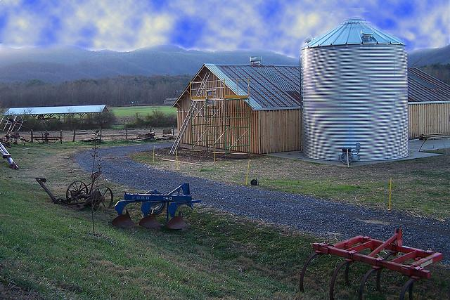 Photo: A sylo at a farm in Swannaona, NC