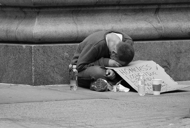 Image of poverty and homelessness