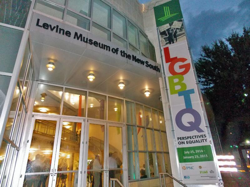 The Levine Museum of the New South is hosting a historic exhibit on the LGBTQ community of Charlotte.