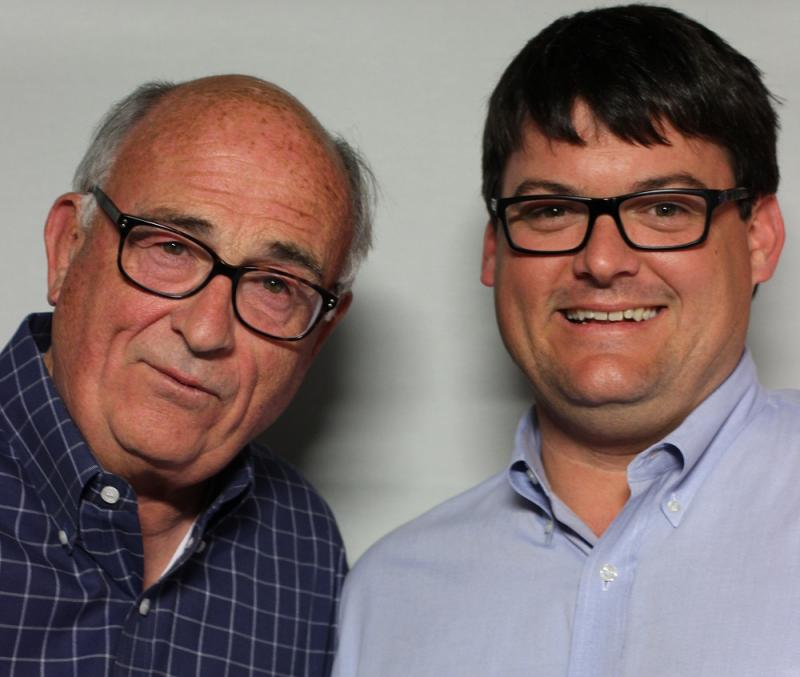 Jim Goodmon with his son, Michael.