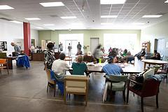 About 200 people use services at the IRC (Interactive Resource Center) each weekday.
