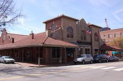 A picture of City Market in the Moore Square Historic District.
