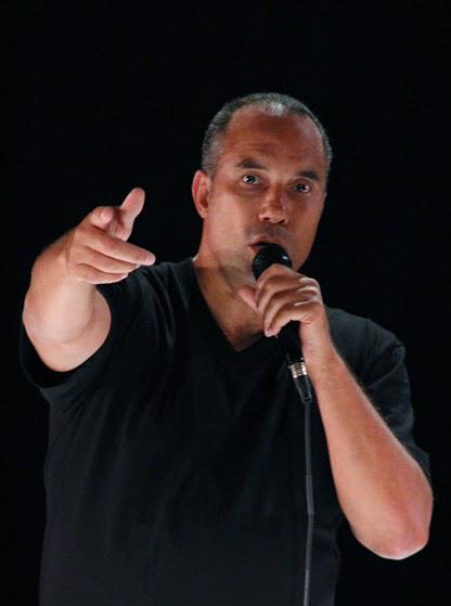 "Image of Roger Guenveur Smith in his solo show, ""Rodney King"""
