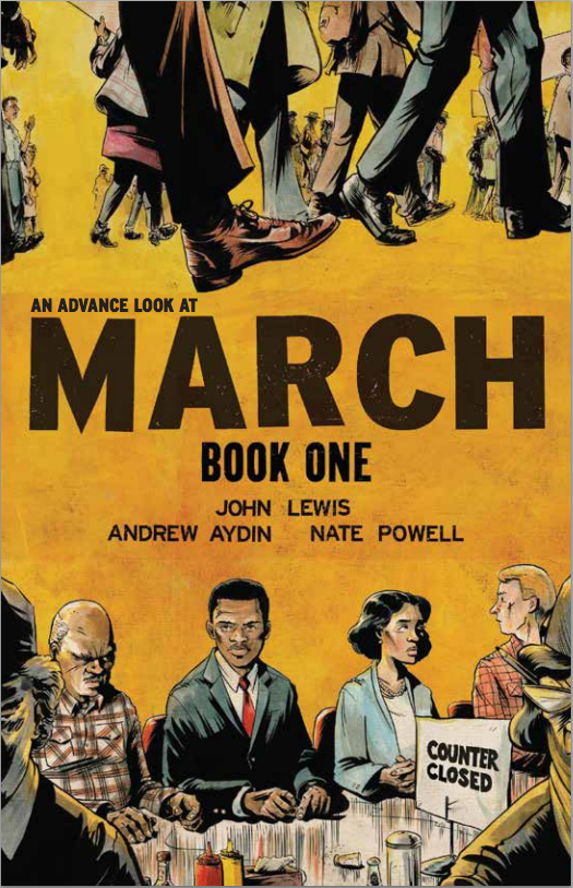 Cover to the first installment of John Lewis' March trilogy of graphic novels