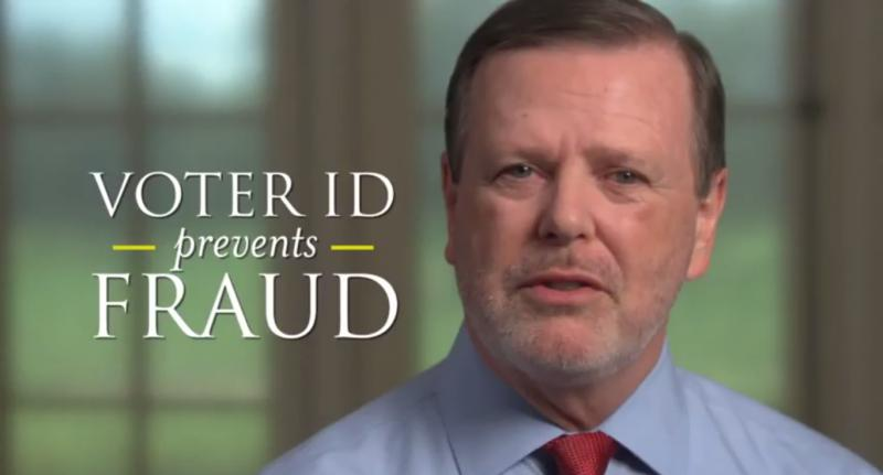 "Screen shot: Senator Phil Berger ""Protect Voter ID"""
