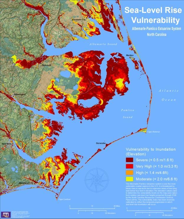 Sea Level Rise WUNC - Louisiana sea level map