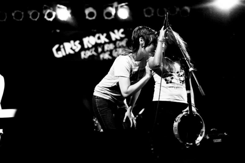 Image of Heather McEntire of Mount Moriah performing for Girls Rock NC