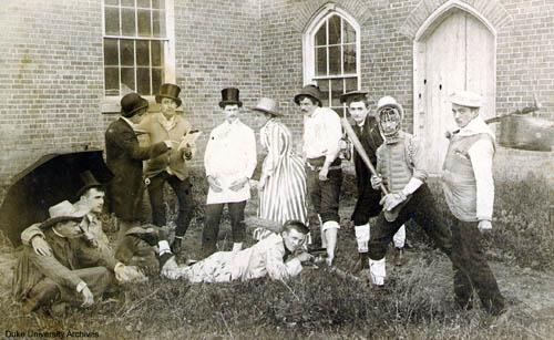 Cast of 'The Womanless Wedding', 1890 Trinity College Drama Group