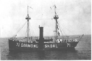 A picture of the Diamond Shoal.