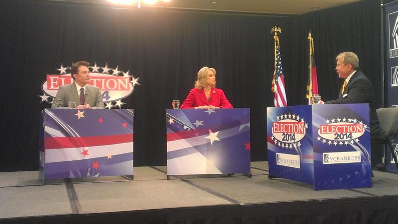 Photo from the Renee Ellmers and Clay Aiken debate.