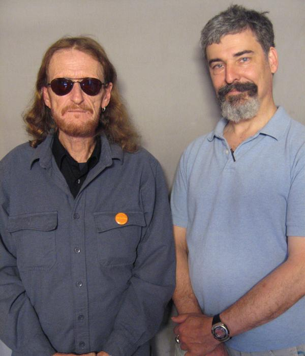 Edwin Lanier (left) with David Wright at StoryCorps in Durham, N.C.  2006