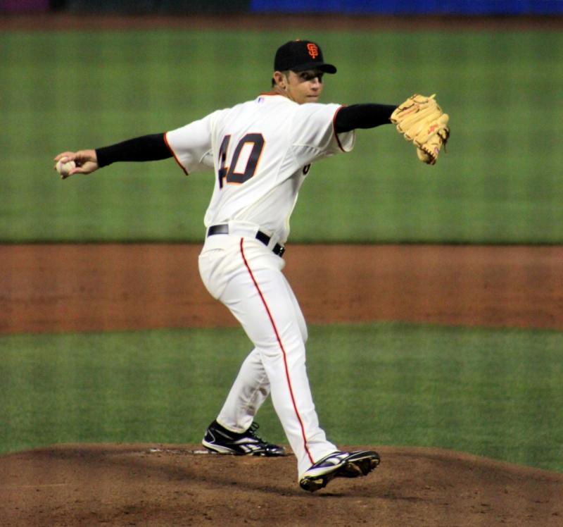 Madison Bumgarner in his 9/8/2009 Major League debut.