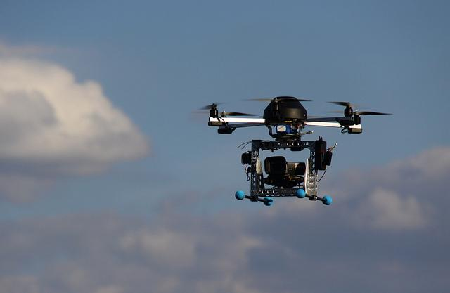 Photo: A camera attached to a remote control airplane