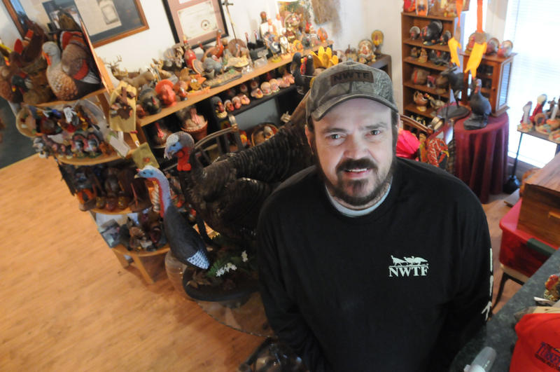 Photo of Mike Davis is a turkey hunter turned turkey enthusiast who owns more than 700 turkey-themed items.
