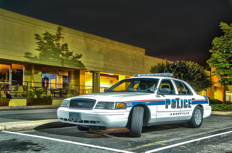 Image of Asheville police car