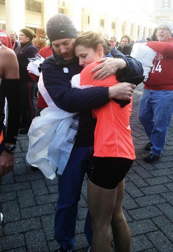 Alana Hadley after setting a course record in the Indianapolis Monumental Marathon