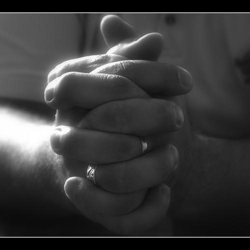 A picture of praying hands
