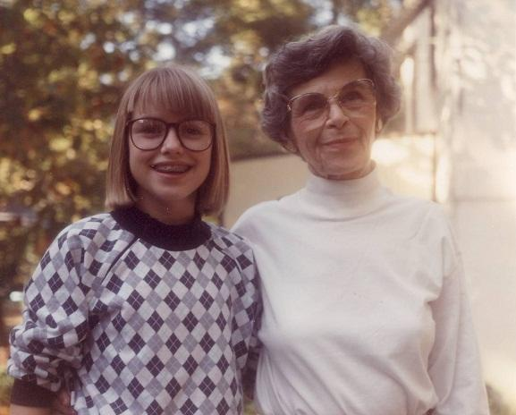 Image of Amanda Holliday with her grandmother Celeste Sawyer.