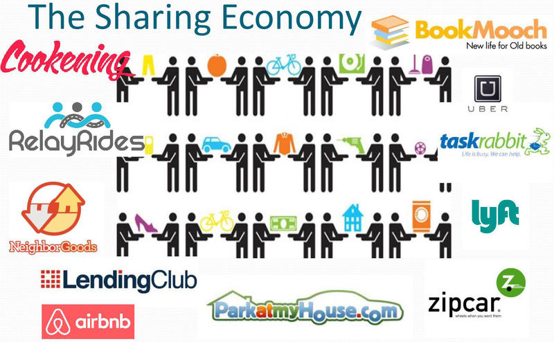 Sharing economy illustration