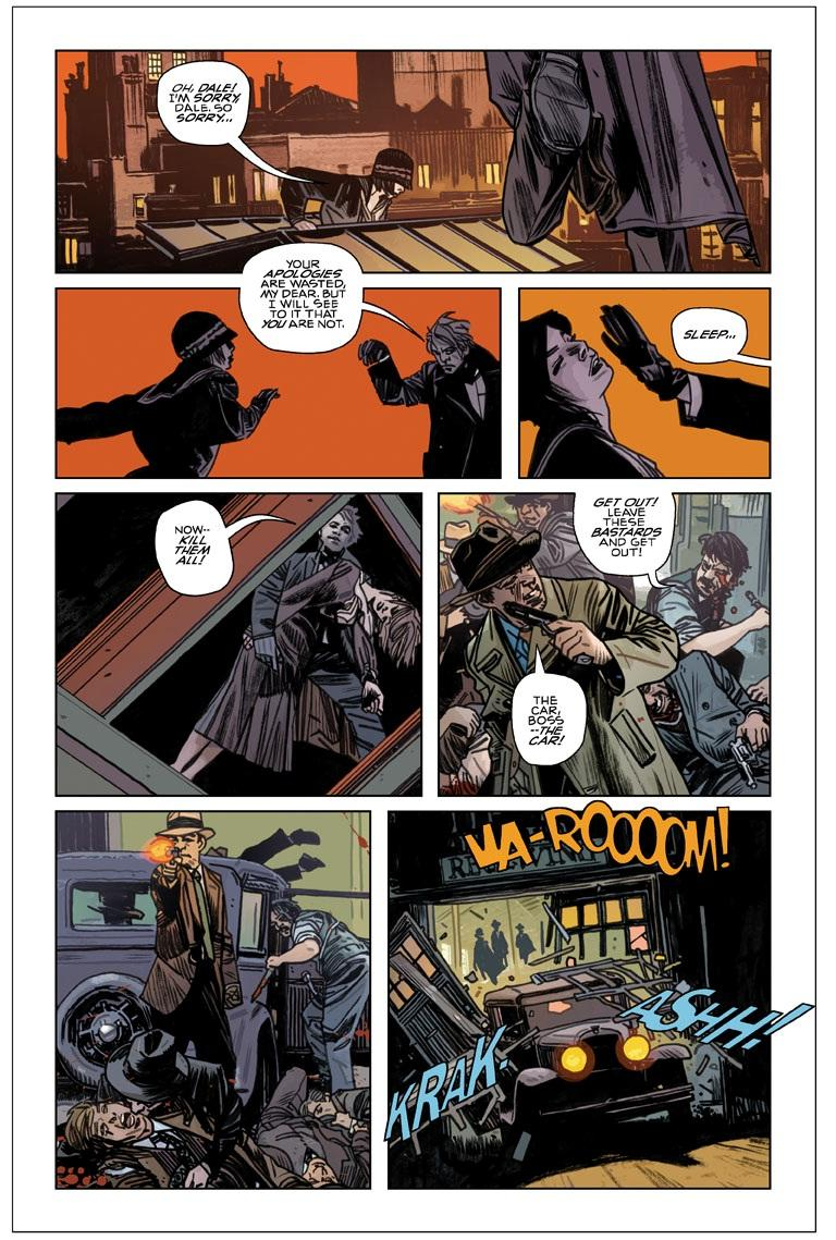 A page from Turf, a comic series by Tommy Lee Edwards and Jonathan Ross.