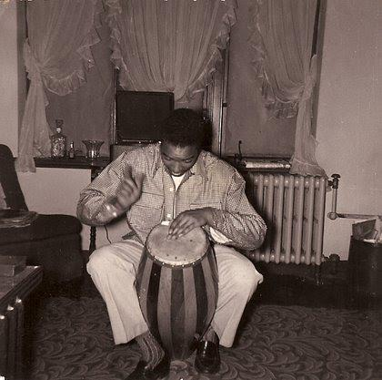 Image of Daoud Haroon practicing a first instrument.