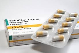 A picture of Tamiflu tablets.