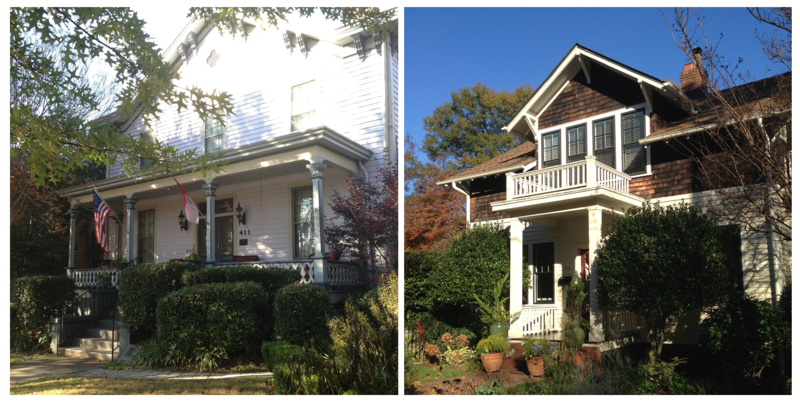Photo: A Bed and Breakfast and a home on Bloodworth Street in downtown Raleigh's Oakwood neighborhood