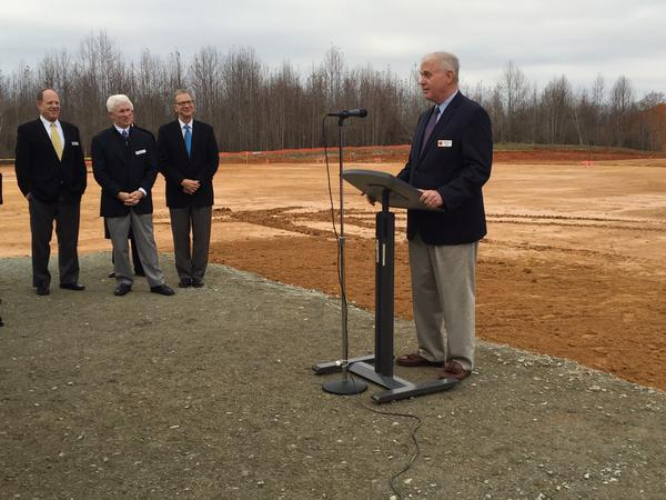 Pittsboro, NC mayor Bill Terry at Chatham Park groundbreaking.