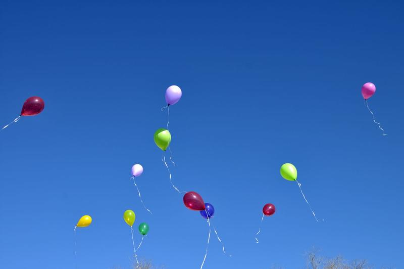 Glen Van Etten's family makes a wish each New Years Day prior to releasing balloons.